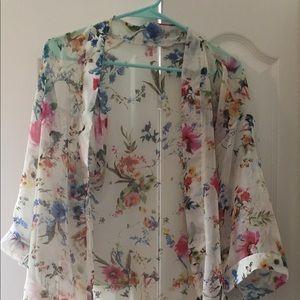 Off white sheer kimono —OS